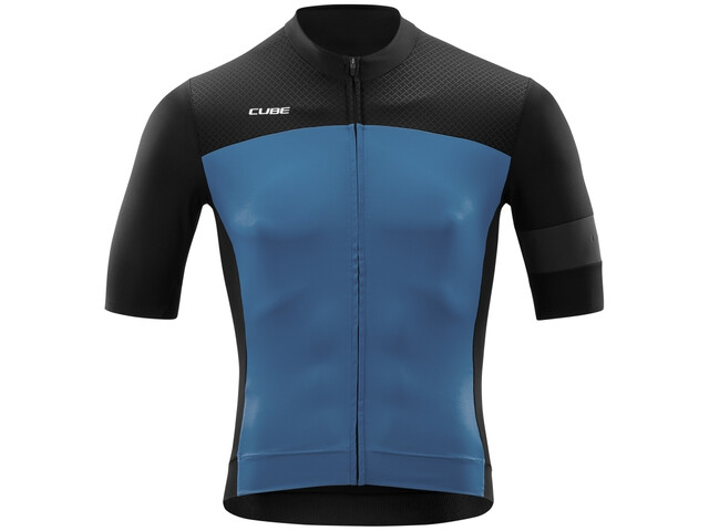 Cube Blackline Maillot Manches courtes Homme, black´n´smoke blue